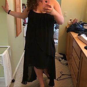 Flowy black high low dress